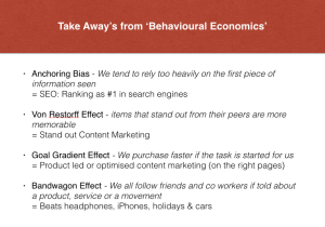 The SEO edition of behavioural economics
