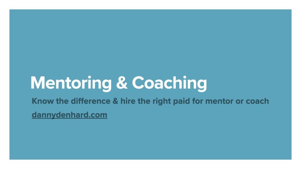 Mentoring and coaching - Danny Denhard
