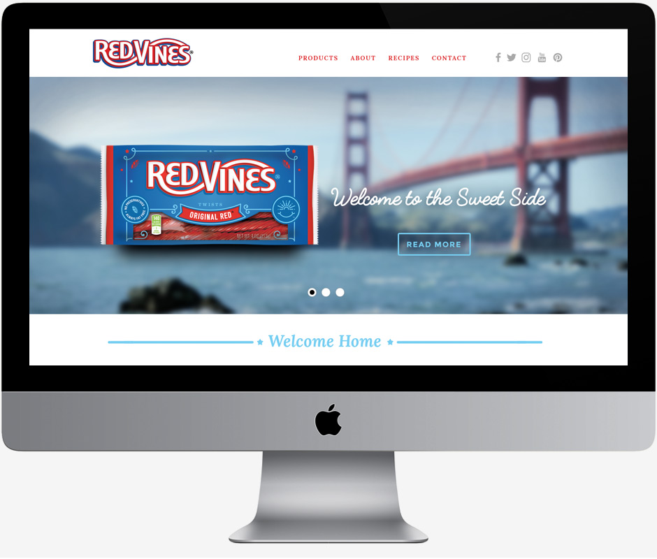 Red Vines website design
