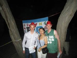 Big Ten Bash with Spartan alum Charles Eveslage (right) and Purdue Alum Sylvia Liu (middle)