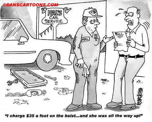 Car Automobile Cartoon 39 a Cartoon Image and funny joke in the genre of cars and automobiles. Images for license by Dan Rosandich