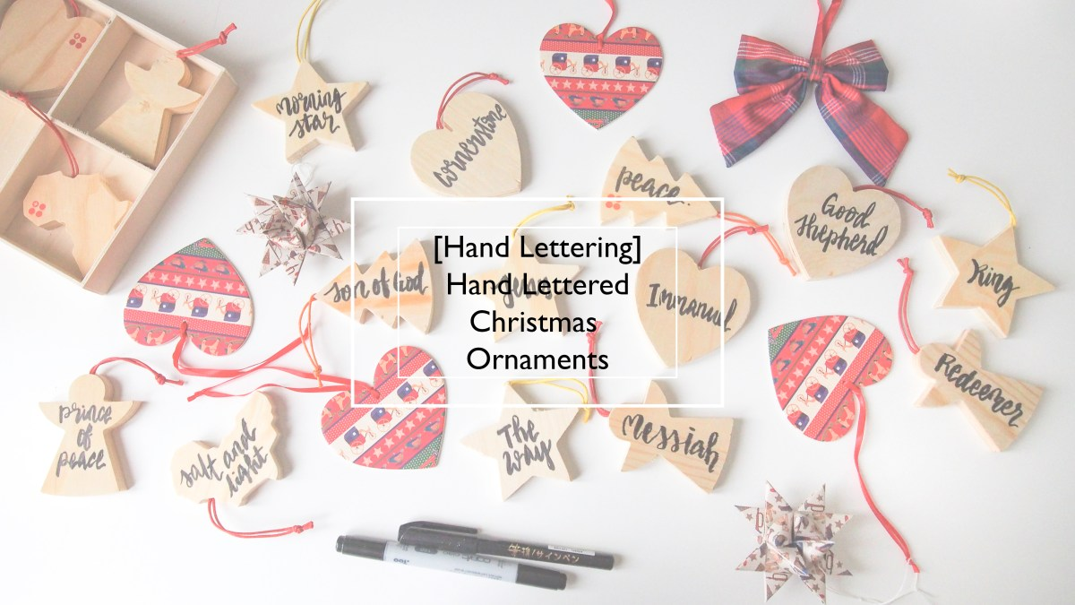[Hand Lettering] Hand Lettered Wooden Christmas Ornaments