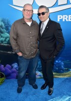 HOLLYWOOD, CA - JUNE 08: Actors Ed O'Neill (L) and Eugene Levy attend The World Premiere of Disney-Pixar's FINDING DORY on Wednesday, June 8, 2016 in Hollywood, California. (Photo by Alberto E. Rodriguez/Getty Images for Disney) *** Local Caption *** Ed O'Neill; Eugene Levy