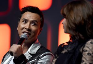 LONDON, ENGLAND - JULY 15: Donnie Yen on stage during the Rogue One Panel at the Star Wars Celebration 2016 at ExCel on July 15, 2016 in London, England. (Photo by Ben A. Pruchnie/Getty Images for Walt Disney Studios) *** Local Caption *** Donnie Yen