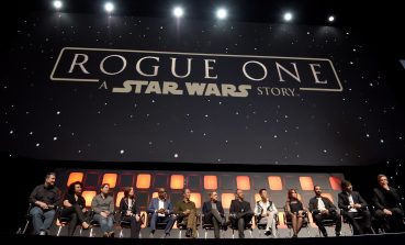 LONDON, ENGLAND - JULY 15: (L-R) John Knoll, Kiri Hart, Gareth Edwards, Kathleen Kennedy, Forest Whitaker, Mads Mikkelsen, Alan Tudyk, Wen Jiang, Donnie Yen, Felicity Jones, Riz Ahmed, Diego Luna and Ben Mendelsohn on stage during the Rogue One Panel at the Star Wars Celebration 2016 at ExCel on July 15, 2016 in London, England. (Photo by Ben A. Pruchnie/Getty Images for Walt Disney Studios) *** Local Caption *** John Knoll; Kiri Hart; Gareth Edwards; Kathleen Kennedy; Forest Whitaker; Mads Mikkelsen; Alan Tudyk; Wen Jiang; Donnie Yen; Felicity Jones; Riz Ahmed; Diego Luna; Ben Mendelsohn