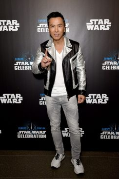 LONDON, ENGLAND - JULY 15: Donnie Yen attends the Star Wars Celebration 2016 at ExCel on July 15, 2016 in London, England. (Photo by Ben A. Pruchnie/Getty Images for Walt Disney Studios) *** Local Caption *** Donnie Yen