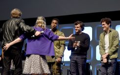 LONDON, ENGLAND - JULY 17: (L-R) Mark Hamill, Carrie Fisher, John Boyega, Alden Ehrenreich and Phil Lord on stage during Future Directors Panel at the Star Wars Celebration 2016 at ExCel on July 17, 2016 in London, England. (Photo by Ben A. Pruchnie/Getty Images for Walt Disney Studios) *** Local Caption *** Mark Hamill; Carrie Fisher; John Boyega; Alden Ehrenreich; Phil Lord