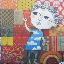 Santiago: wall art patchwork (to be demolished)