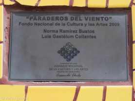 Paraderos Del Viento, Valle de Elqui, Plaque