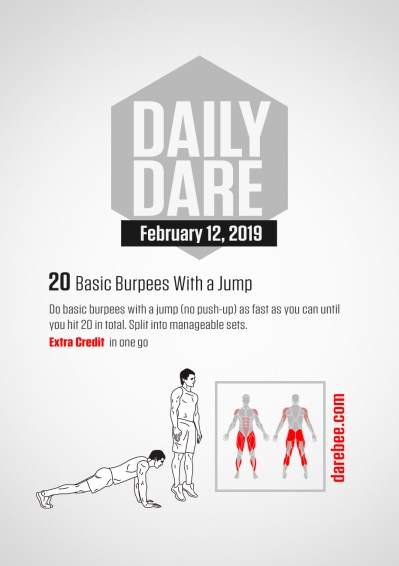 [ DD - 12 February 2019 ] 20 Basic Burpees With a Jump - The Hive