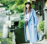 【今日のコーデ】アイスブルー×ベージュのまろやか配色がかわいい!