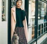 【今日のコーデ】ゆるっとかわいく♡ロング丈の柄スカートがおしゃれっぽい!
