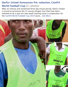 Click the image to see the 21 DU hopefuls who made the first cut. The players still need your support - 2 weeks till Sweden! Please share and support Darfur United. Thank you!