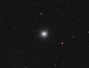 M13 Globular cluster in Hercules. RGB image.