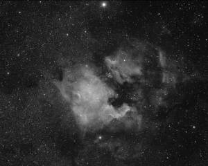 North America and Pelican Nebula in Ha