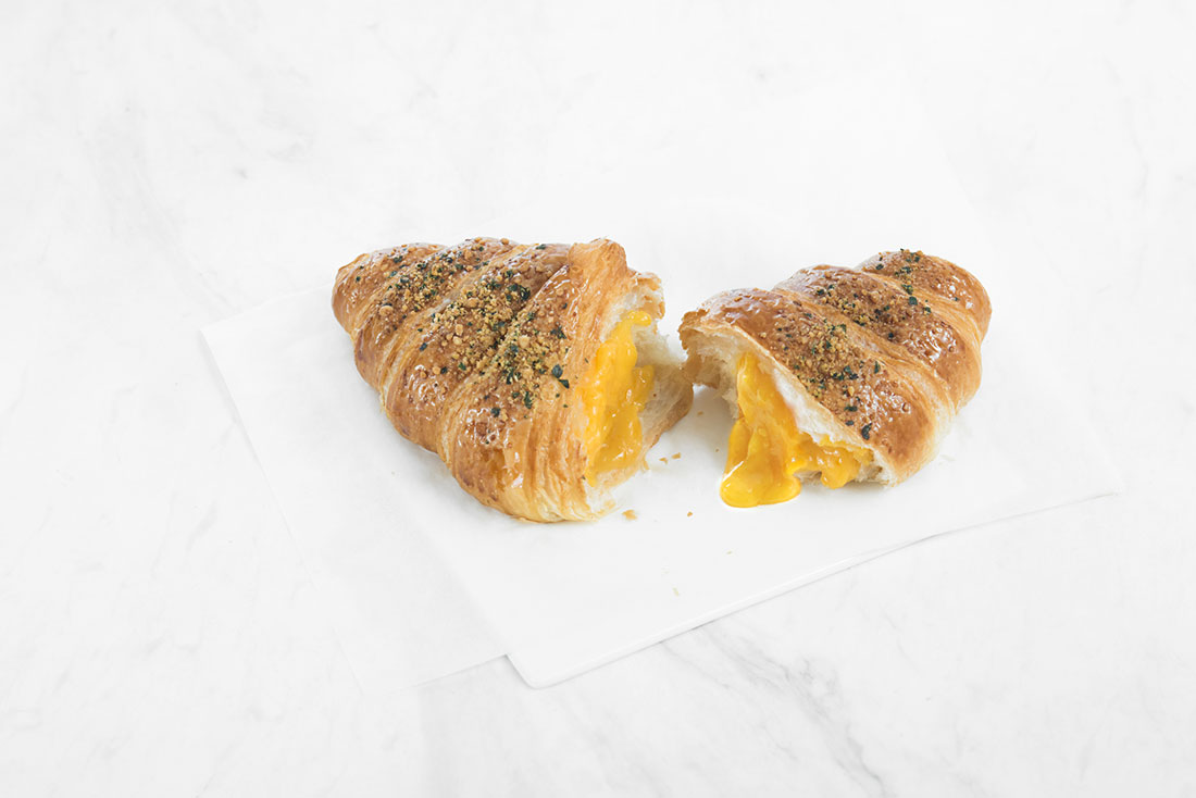 starbucks salted egg yolk lava croissant