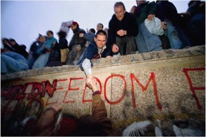 celebration at the Berlin Wall
