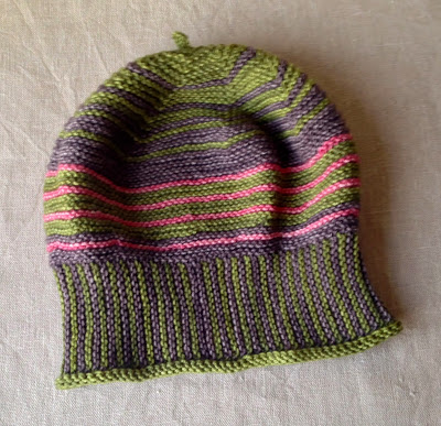 grüngestreifte-Mütze