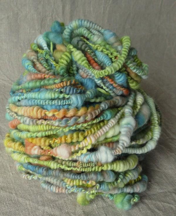 Spiralwolle pastellfarben