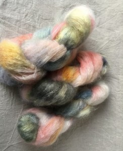 Brushed Kid-Mohair Old Flowers