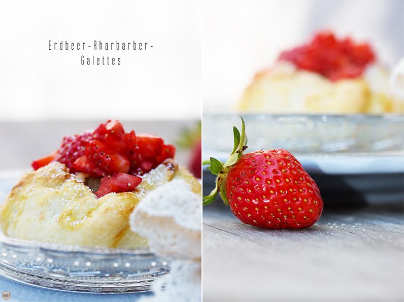 Erdbeer-Rhabarber-Galettes