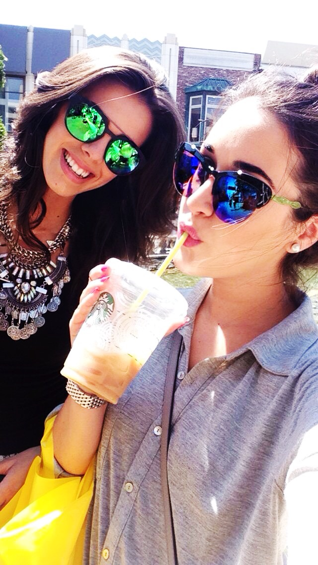 My bestie Caro and I spent the day at The Grove with our mirrored shades.