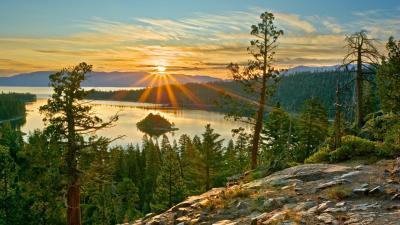 Sunrise Over Crater Lake HD desktop wallpaper : Widescreen : High Definition : Fullscreen