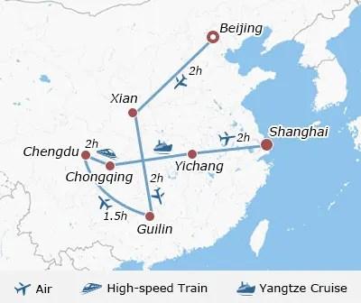 16 Days Group China Tour Package: Beijing, Xian, Guilin, Yangtze, Shanghai