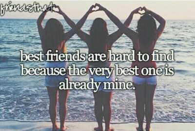 Best Friends are hard to find because the very best one is already mine. | We Heart It | quote ...