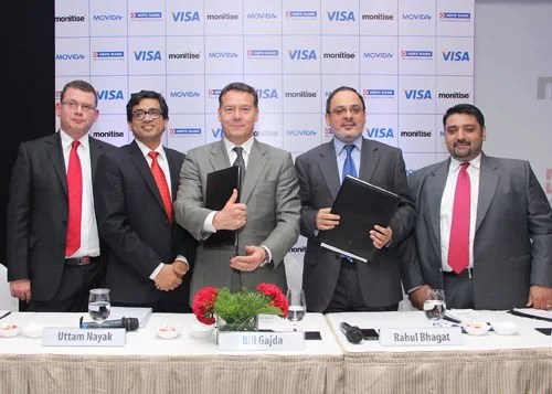 Visa and Movida Partners HDFC Bank For Mobile Payment Services In India