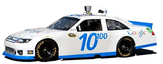 Google Racing with NASCAR - April Fool