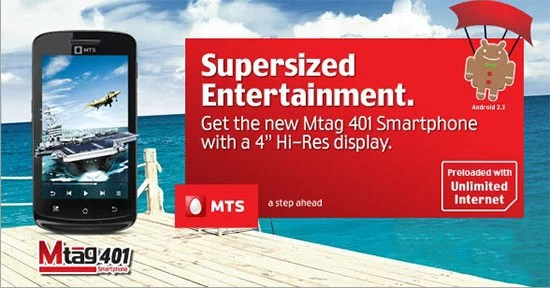 MTS India Launches MTag 401 Android Smartphone with Unlimited Internet