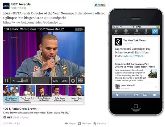 Twitter adds in Interactive Experience with Expanded Tweets