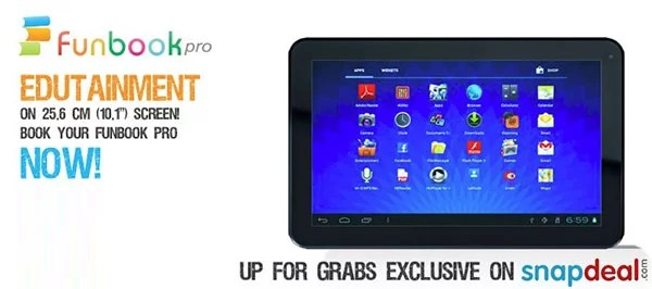 Micromax Unveils Funbook Pro 10.1inch Tablet exclusively on Snap Deal