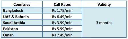 MTS 786 Plan Special call rate Tariff
