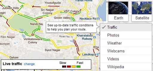 Google Maps India Live Traffic Information