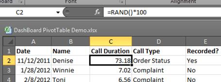 Generating Random Data