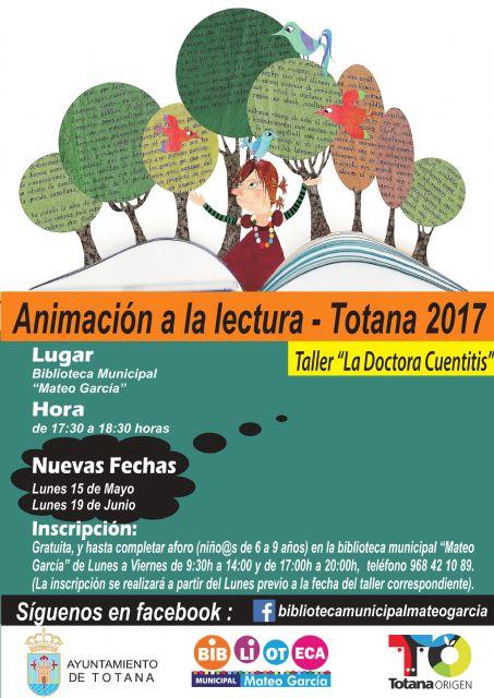 """Se abre hoy el plazo de inscripción para participar en el Taller de Animación a la Lectura """"Doctora Cuentitis"""" que se celebrará el próximo 19 de junio"""