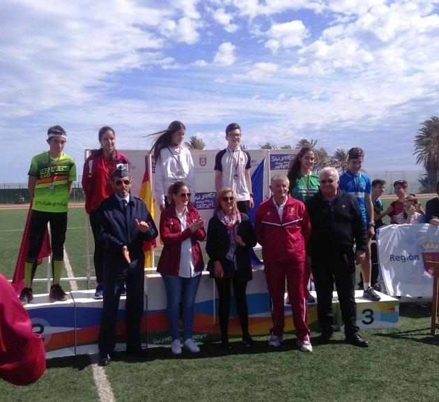 Excelentes resultados de los centros de enseñanza de Totana en la Final Regional de Orientación de Deporte Escolar, celebrada en San Javier, con tres campeonas regionales en las categorías alevín, cadete y juvenil