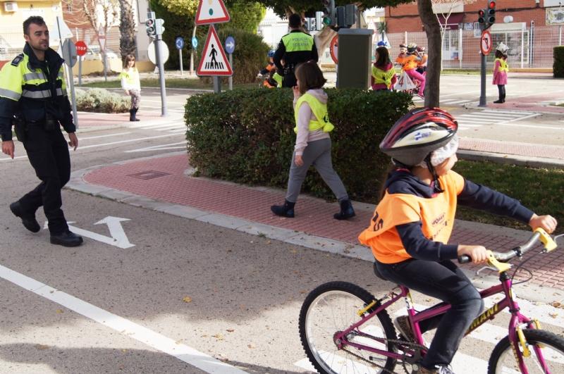 La Concejalía de Seguridad Ciudadana retomará la campaña informativa sobre normas básicas del peatón y ciclista por las vías urbanas e interurbanas dirigida a escolares