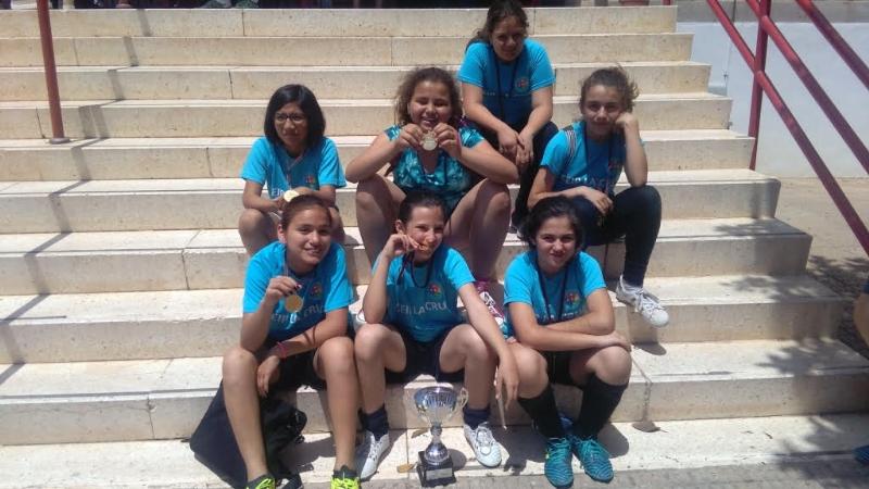 El Colegio La Cruz se proclamó campeón regional de Fútbol-Sala Alevín Femenino de Deporte Escolar en la final celebrada en San Javier