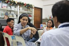 COMPLAINT. Sr. Stella Matutina gestures to lawyer Albert Sipaco of the Commission on Human Rights-XI. Matutina, along with eight other environmental defenders called the Davao Oriental 8, filed complaints before the CHR against the military for harassment. (davaotoday.com photo by Medel V. Hernani)