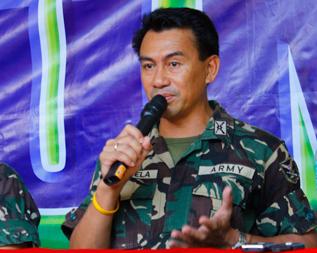 67th Infantry Battalion's Lt. Col. Krishnamurti Mortela.  (davaotoday.com file photo by Medel V. Hernani)