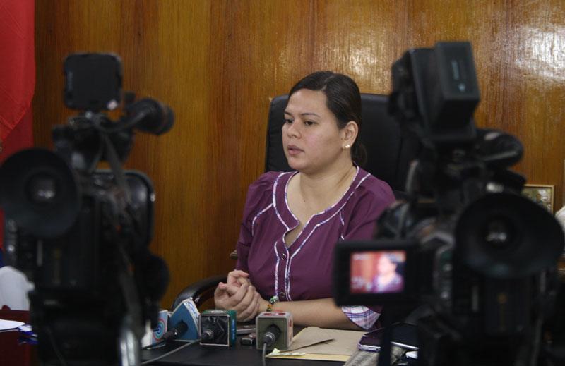 Davao City Mayor Sara Duterte.  (davaotoday.com file photo)