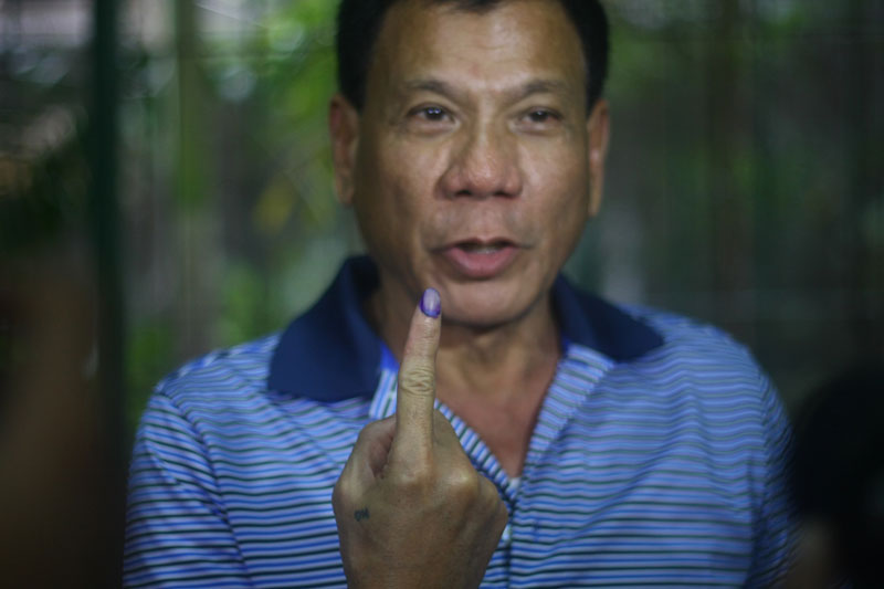 Rody Duterte to demand peace as presidential candidate