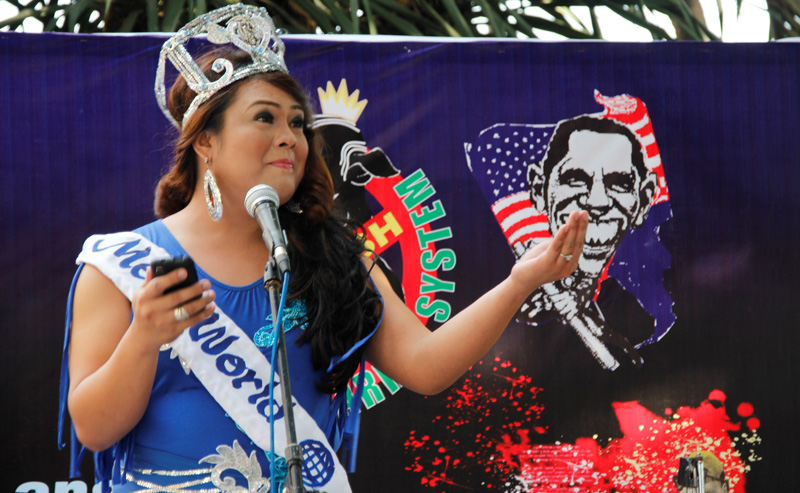 Photos: Davao's anti-pork protest welcomes 'Megan Yan'