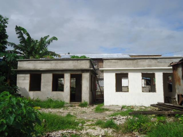 The housing project in Brgy. Poblacion, Baganga, Davao Oriental.  (photo contributed by Juland Suazo)