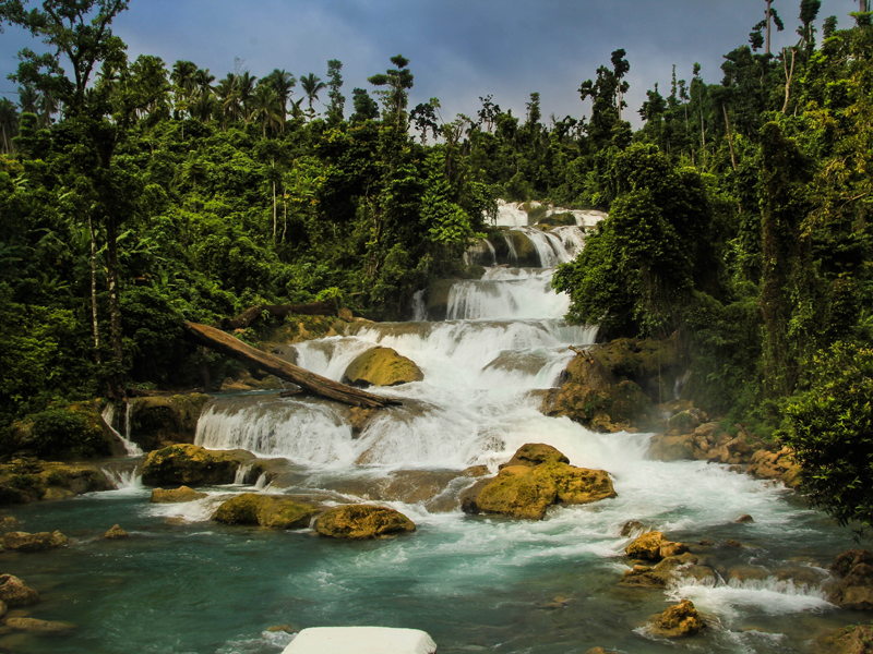 BEAUTY RESTORED Aliwagwag Falls in Cateel, Davao Oriental, slowly regains her beauty and waters after suffering from the impact of Typhoon Pablo a year ago. (davaotoday.com photo by Ace R. Morandante)