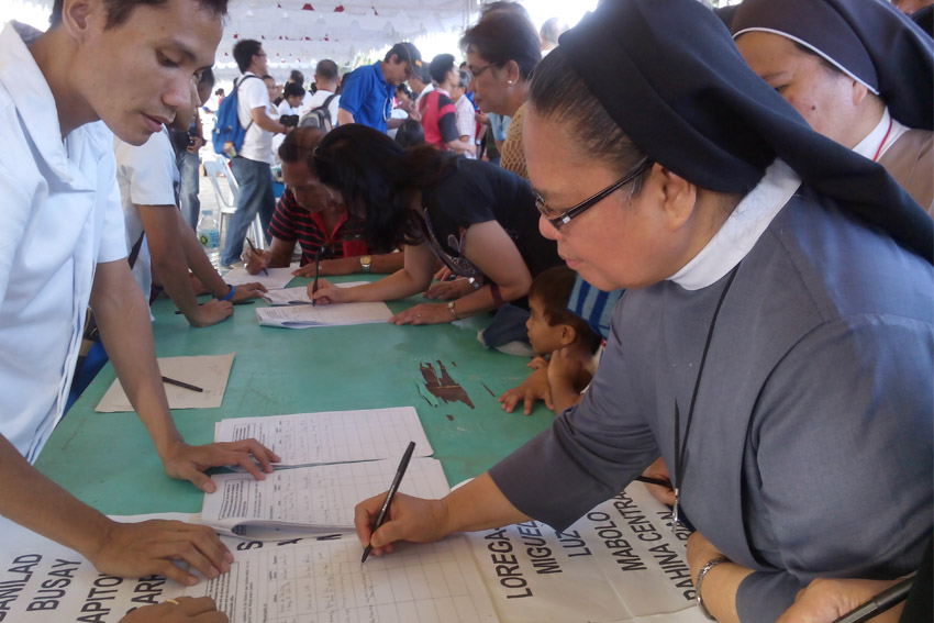 Religious groups back People's Congress bill vs. pork barrel system