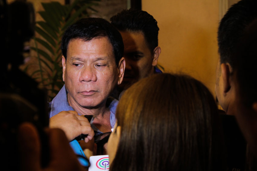 Duterte denies electioneering in Mindanao 'listening tour'